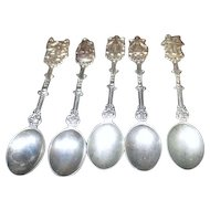 5 Small Decorative Spoons