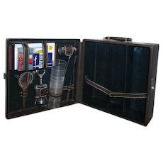 Leather Traveling Bar by Shortrip with Key