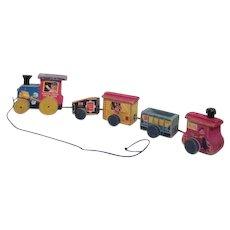Fisher Price Choo Choo Pull Toy Train Mid 1950's