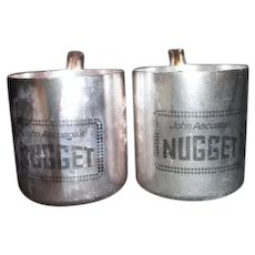 Set of Two Aluminum Mugs from John Ascuaga's Nugget