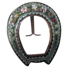 Antique Micro Mosaic Standing Picture Frame