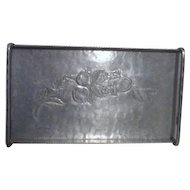 Hand Forged Everlast Metal aluminum Tray with 2 Handles Apple Design