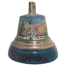 Small Hand Painted Russian Brass Bell
