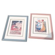 Two Framed Prints of Nursery Rhymes
