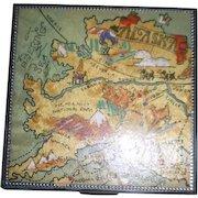 Metal Compact with Alaska Map