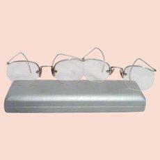df09062735f3 Antique 10K Gold Eyeglasses Spectacles   Virtu Doll