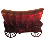 Covered Wagon Bronze Bank from Central California Federal Savings 1974