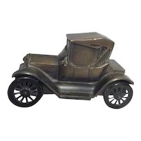 1915 Car Bronzed Bank from First State Bank of San Leandro