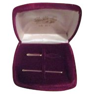 14k Gold Needle and Needle Threader in Velvet Case