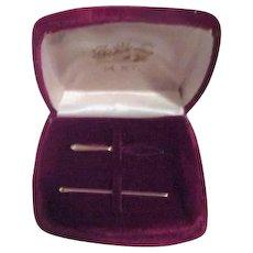 14k Gold Needle and Needle Threader in Velvet Case