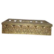 Goldtone Filigree Tissue Box Container