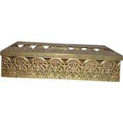 Goldtone Filigree Tissue Box Container