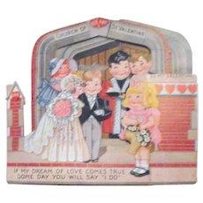 3 Dimensional Valentine Wedding Party