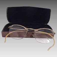 4fc1bac159a Vintage Pince Nez Gold Filled Shuron Ladies Eyeglasses with Chain ...