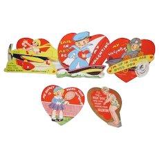 Set of 5 Sports Vintage Valentines