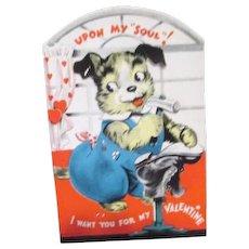Mechanical Vintage Valentine with Dog Cobbler