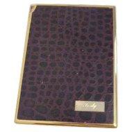 Colibri Lighter and Cigarette Case Leather Monogrammed Jody