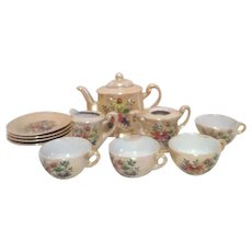 Children's Dishes Toy Tea Set Lustreware Made in Japan (Luster ware)