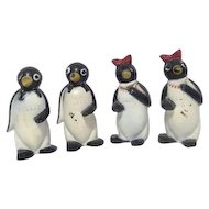 Set of 2 Pairs of Penguin Salt and Pepper Shaker Sets Millie and Willie from Kool Cigarettes