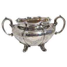 Sterling Silver Double Handled Sugar Bowl by Barnard