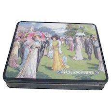 Harrod's Biscuit (Cookie) Tin with Lithograph  Cover