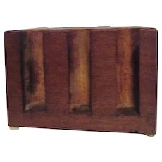 Hand Made Tiger Striped Solid Wood Poker Chip and Card Holder