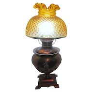 Victorian Parlor Lamp by Miller Lamp Co Converted to Electricity