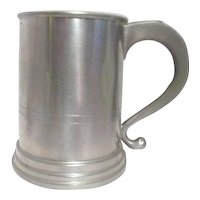 Large 40oz Pewter Tankard by Woodbury Pewterers Satin Finish