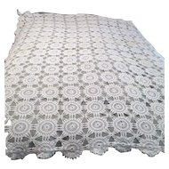 Hand Crocheted Large Tablecloth Wheel Pattern