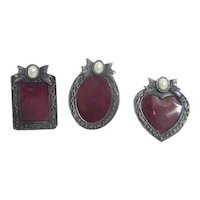 Set of 3 Miniature Standing Picture Frames