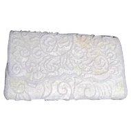 La Regale White Beaded Evening Shoulder Bag
