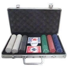 Compact Poker Case with Chips