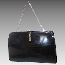 8180082c8a2c After Five Patent Leather Black Clutch Evening Bag with Attached Coin Purse
