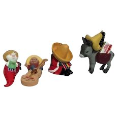Set of 4 Hallmark Feliz Navidad Series Christmas Ornaments