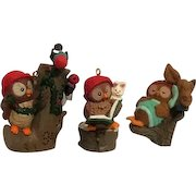 Set of 3 Hallmark Christmas Owliver Ornaments