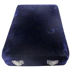 Midnight Blue Velvet Jewelry Presentation Box