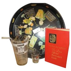 5 Piece Bartender's Aid Tray Book Accessories