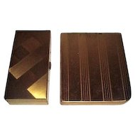 Set of Two Goldtone Cigarette Cases