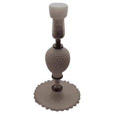 White Milk Glass Hobnail Table Lamp