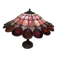 """14"""" Electric Lamp with Mosaic Design Shade"""