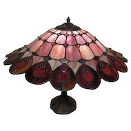 "14"" Electric Lamp with Mosaic Design Shade"