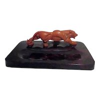 Faus Tortoise-Shell Pipe Rest with Lion