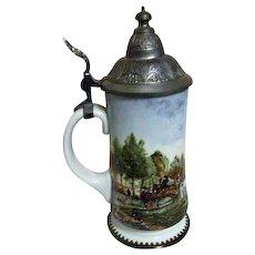House of Goebel Lidded Beer Stein from Bavaria, West Germany
