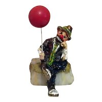 Ron Lee Sculpture Clown with Balloon