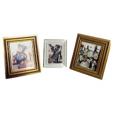 Three Small Framed Hummel Pictures