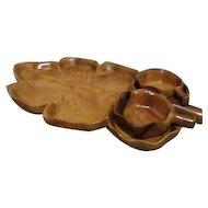 Three Piece Hawaiian Monkey Pod Wood Tray