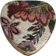 Heart Shaped Tapestry Covered Jewelry Box