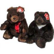 Pair of TY Teddy Bears