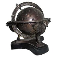 Bronzed World Globe Paperweight