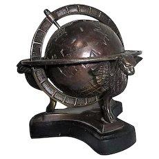 Bronzed World Globe Paperweight